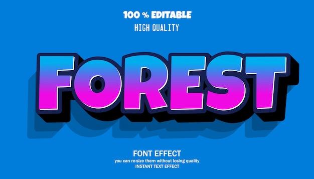 Editable font effect