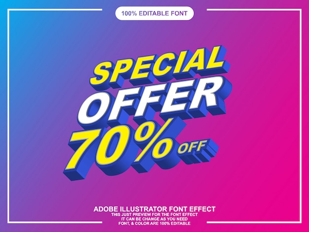 Editable font graphic style isometric font effect