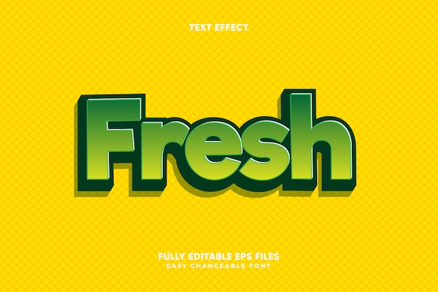 Editable fresh text effect vector