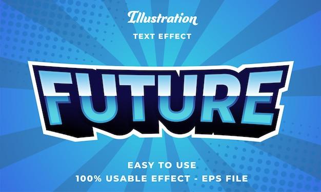 편집 가능한 미래 텍스트 효과 벡터 현대적인 스타일