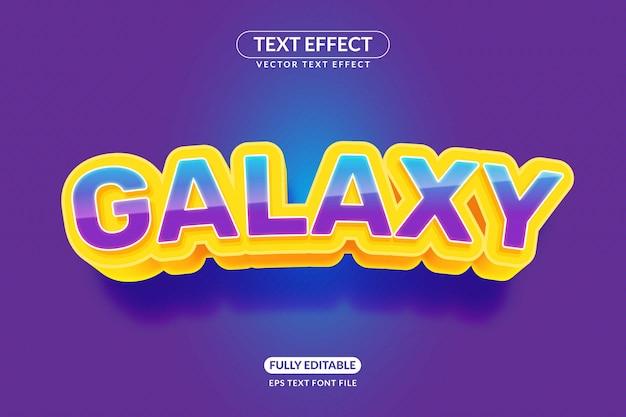 Редактируемый текстовый эффект galaxy games