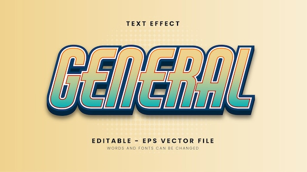 Editable general font effect