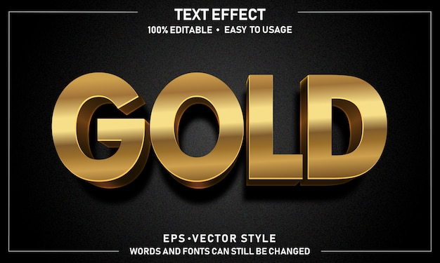 Editable gold text effect