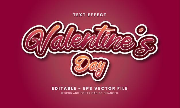 Editable gradient valentine's day text effect