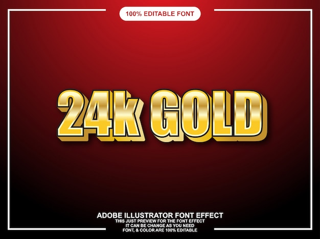 Editable graphic style bold gold gloss font effect