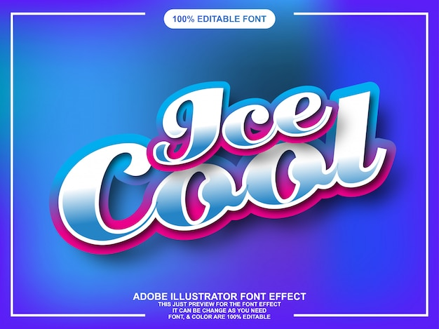 Editable graphic style colorful text with gloss effect
