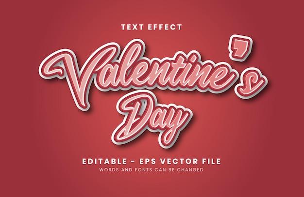 Editable happy valentine's day text effect
