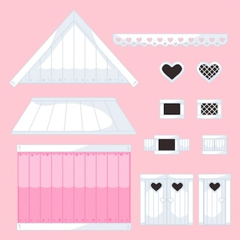 Editable house pieces collection