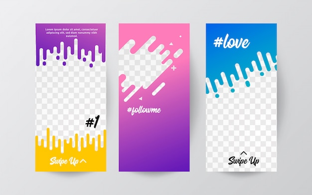 Editable instagram stories template. streaming. fashion promo banners