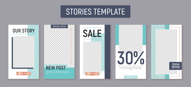 Editable instagram stories template