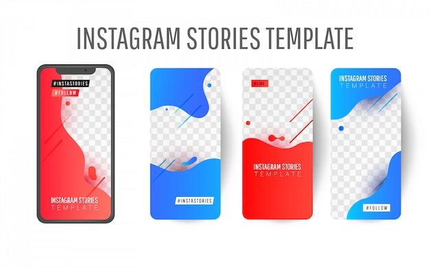 Editable instagram story template with liquid splashes