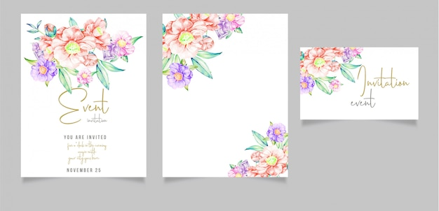 Editable invitation card design with