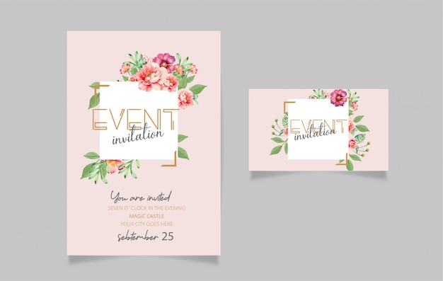 Editable invitation card design
