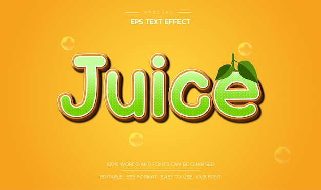 Editable juice text effect