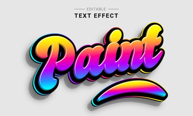 Editable lettering text effect for illustrator