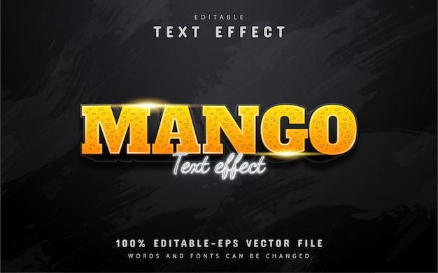 Редактируемый текстовый эффект манго
