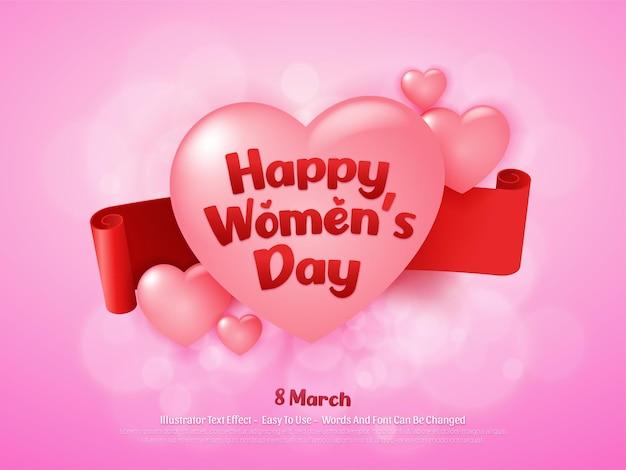 편집 가능한 3 월 행복한 여성의 날 배경 디자인 템플릿