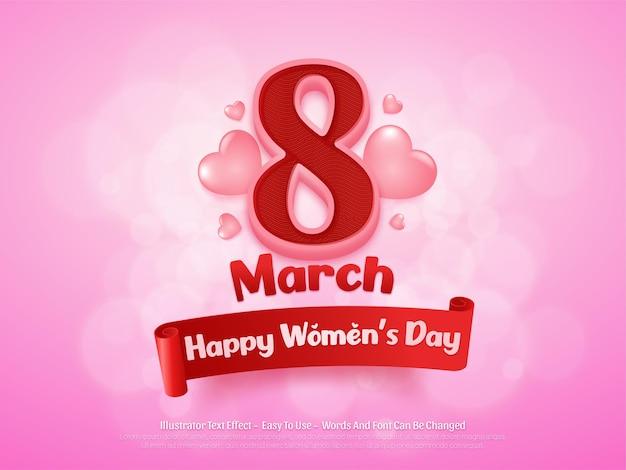 편집 가능한 3 월 행복한 여성의 날 배경 디자인