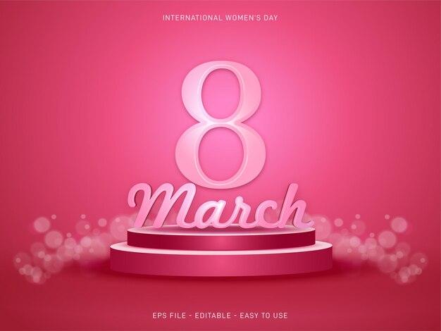편집 가능한 3 월 여성의 날 연단