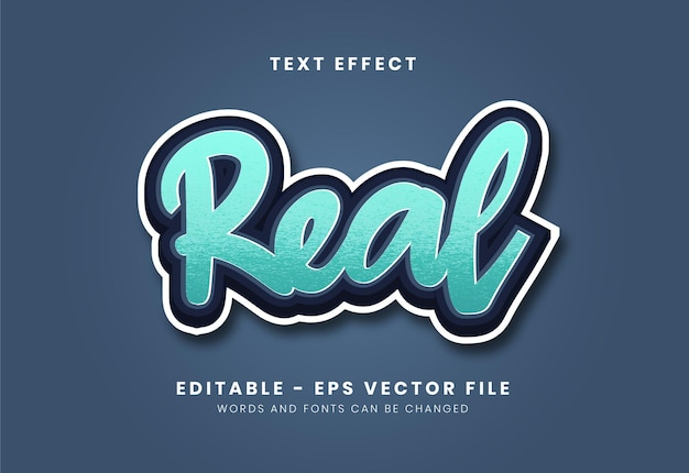 Editable modern blue color text effect with rich texture