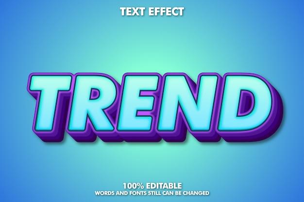 편집 가능한 현대 글꼴 효과, 청소년 스타일 타이포그래피