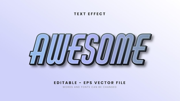 Editable modern gradient text effect