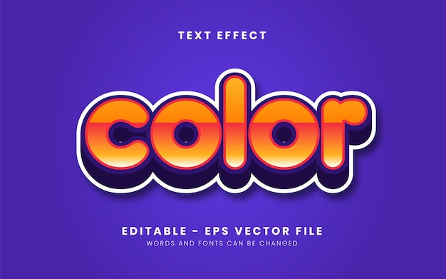 Editable modern orange gradient full color text effect