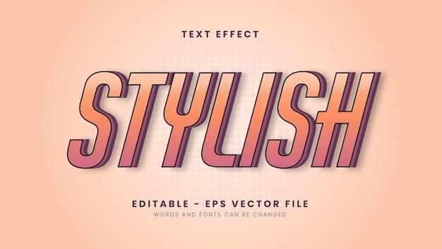 Editable modern stylish font effect
