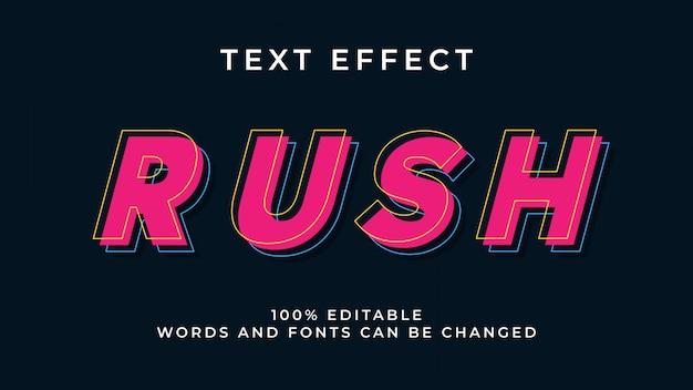 Editable modern text effect