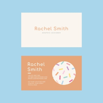 Editable name card template  in memphis style pattern