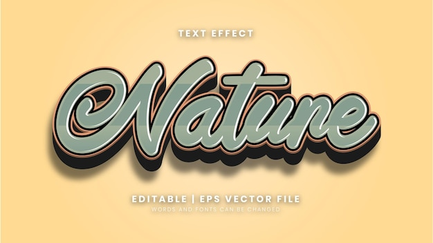 Editable nature vintage style text effect