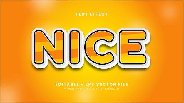 Editable nice text effect