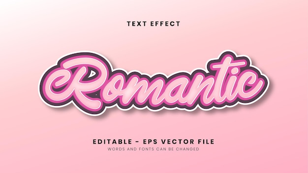 Editable pink romantic text effect