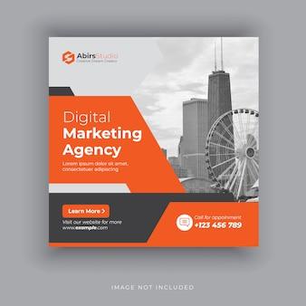 Editable post template social media banners for digital marketing