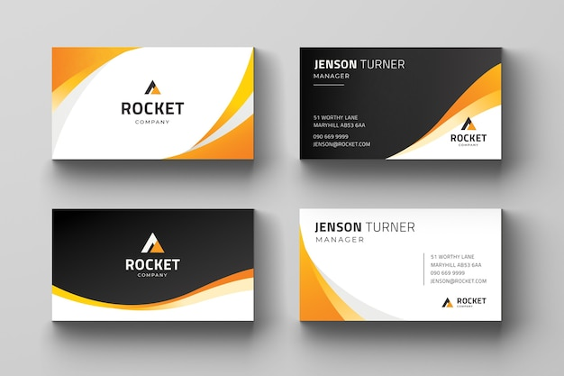 Editable and ready to print business card template