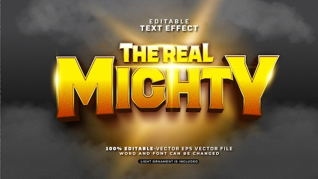 Editable the real mighty text effect