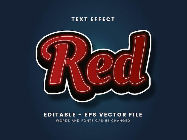 Editable red text effect