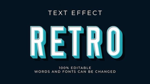 Editable retro 3d text effect