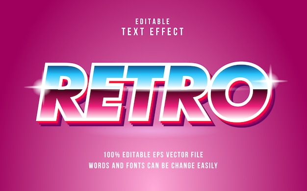 Editable retro text effect