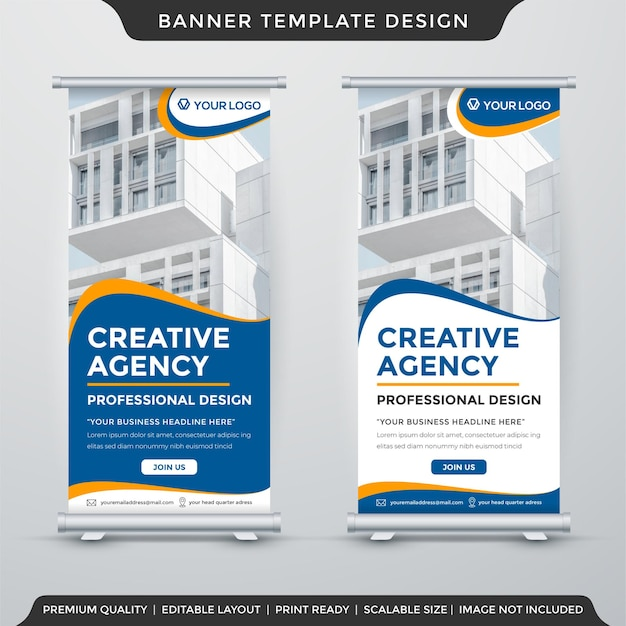 Editable roll banner template