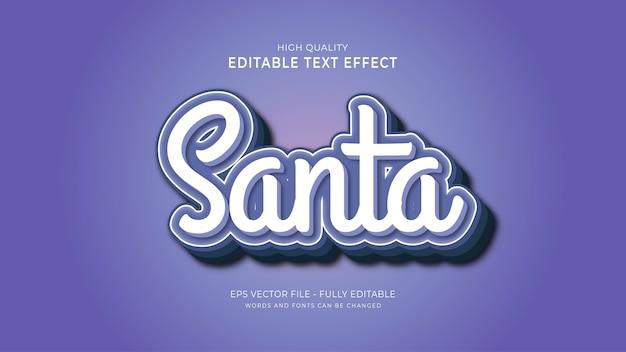Editable santa text style effect