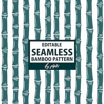 Editable seamless bamboo pattern