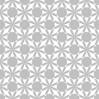 Editable seamless geometric pattern tile with batik concept