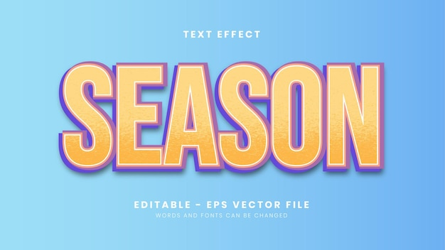 Editable season text effect