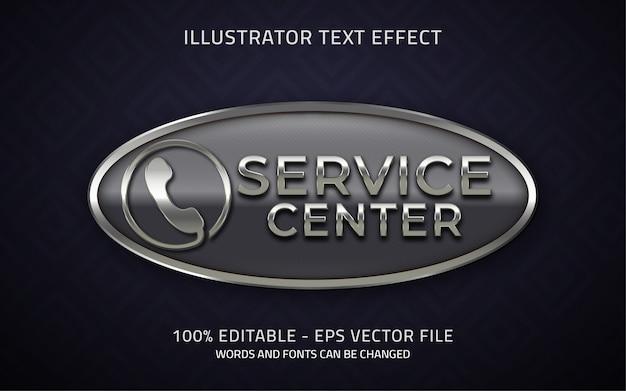 Editable service center style