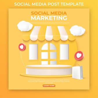 Editable social media post template for promotion