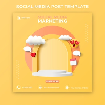 Editable social media post template. social media banner ads.