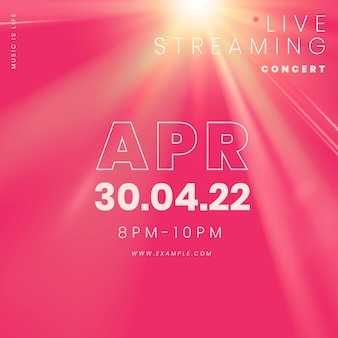 Editable social media template vector for live streaming concert in the new normal post