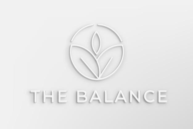 균형 텍스트가 있는 편집 가능한 스파 비즈니스 로고 벡터