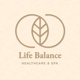 Vettore di modello logo spa modificabile per salute e benessere